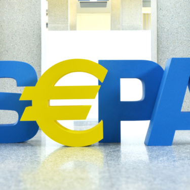 sepa logo in blue and yellow letters