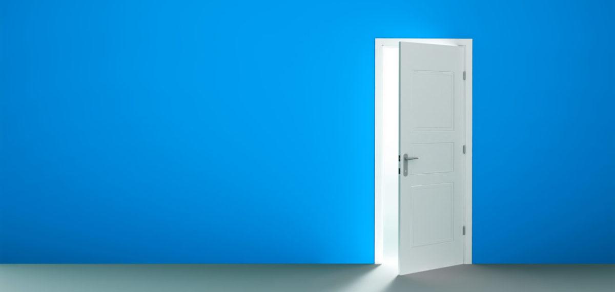 Open door in an empty room