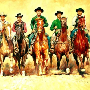 7 cowboys on horses Treasury Management System