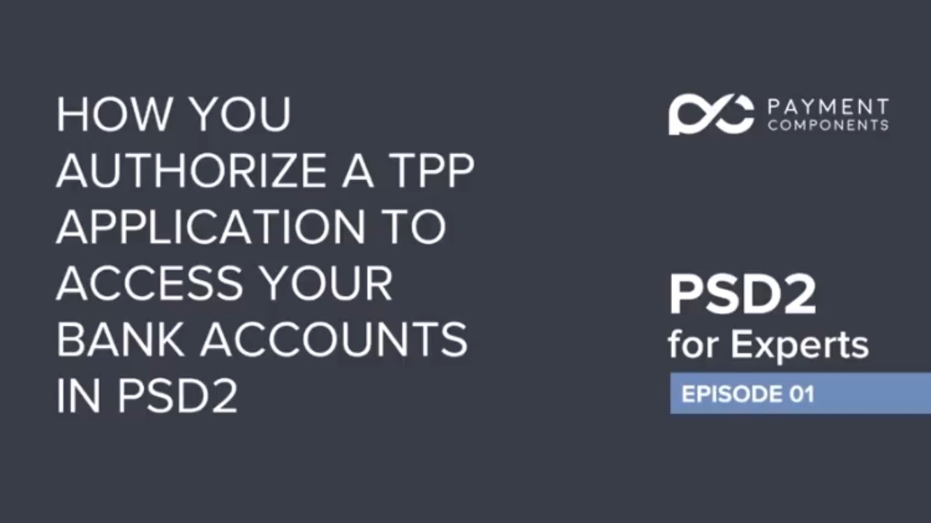 PSD2 for experts YouTube Series
